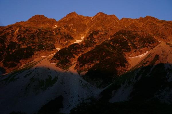 穂高岳モルゲンロート