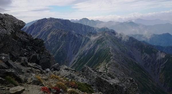 北岳から間ノ岳