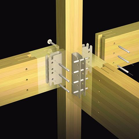 テックワンによる金具接合のイメージ